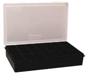 bo te plastique 21 compartiments. Black Bedroom Furniture Sets. Home Design Ideas