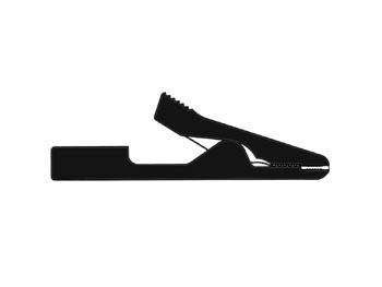 hirshmann pince crocodile isolee 2mm noir ma1. Black Bedroom Furniture Sets. Home Design Ideas