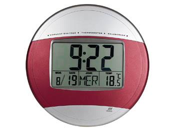 horloge murale avec affichage de la date et de la temperature en fran ais. Black Bedroom Furniture Sets. Home Design Ideas
