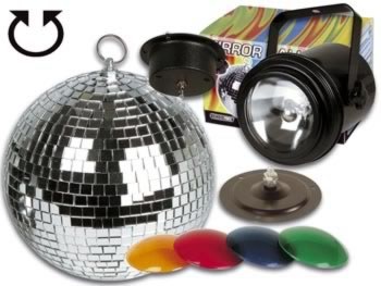 kit lumi re disco projecteur par 36 4 filtres de couleur boule facettes avec moteur 20cm. Black Bedroom Furniture Sets. Home Design Ideas